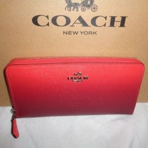 COACH Ombre Leather Accordion Zip Wallet F22808